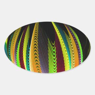 Adesivo Oval Variação ColoursI na bola