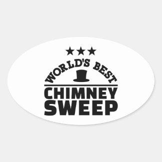 Adesivo Oval Varredura de chaminé do mundo a melhor