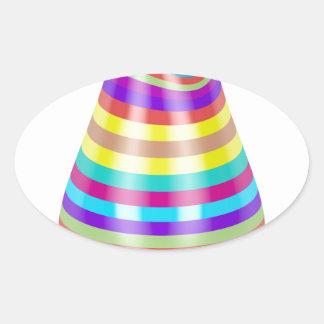 Adesivo Oval Vaso listrado
