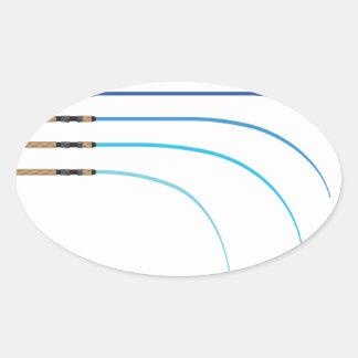 Adesivo Oval Vazios curvados da haste da haste de pesca vetor