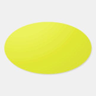 Adesivo Oval Vazios dourados amarelos da máscara da cor: