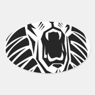 Adesivo Oval vecto principal do leão
