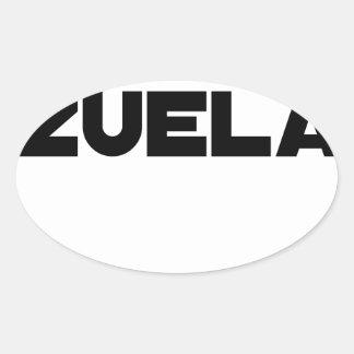 Adesivo Oval VÉNER-ZUELA - Jogos de palavras - François Cidade