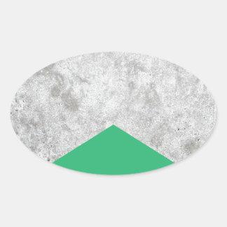 Adesivo Oval Verde concreto #175 da seta