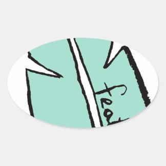 Adesivo Oval verde da pena
