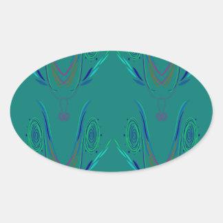 Adesivo Oval Verde do nordic dos elementos do design