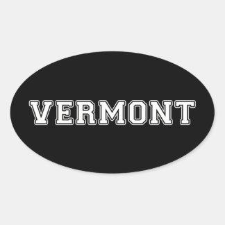 Adesivo Oval Vermont