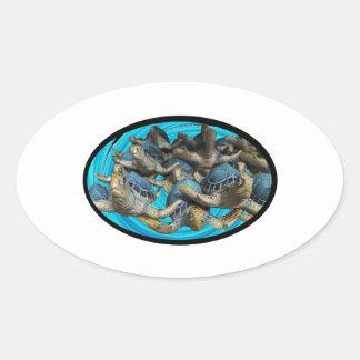 Adesivo Oval Viagem pelo mar