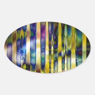 Adesivo Oval Vitral