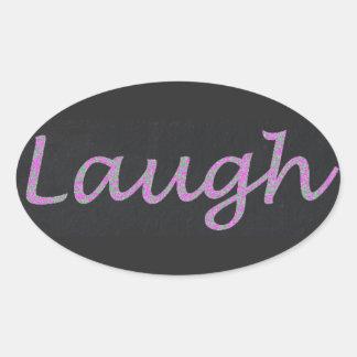 Adesivo Oval Vive o amor do riso