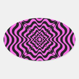 Adesivo Oval Vortex cor-de-rosa