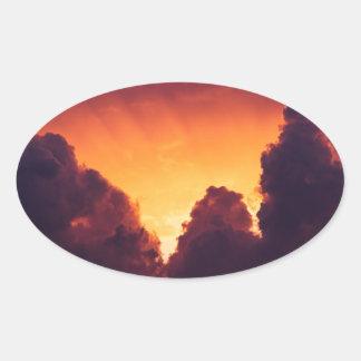 Adesivo Oval w no tempo