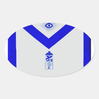 Adesivo Oval Warden júnior maçónico Avental
