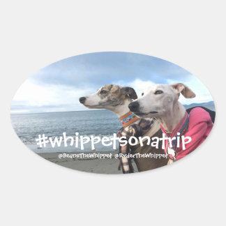 Adesivo Oval #whippetsonatrip em WA