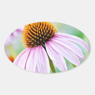 Adesivo Oval Wildflowers roxos
