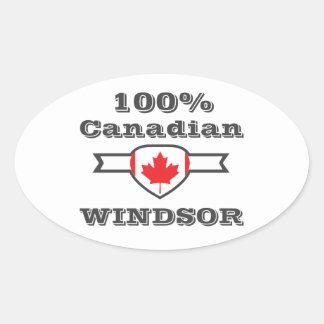 Adesivo Oval Windsor 100%