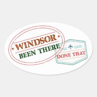 Adesivo Oval Windsor feito lá isso