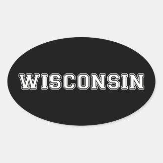 Adesivo Oval Wisconsin