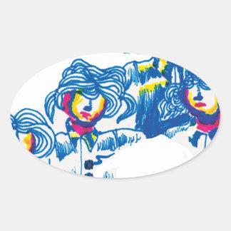 Adesivo Oval wondercrowd-tentáculos
