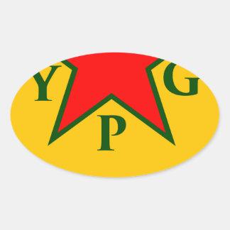 Adesivo Oval ypg-ypj - kobani do apoio