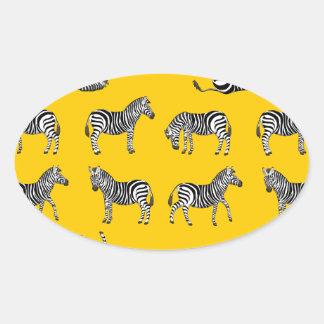 Adesivo Oval Zebra selecção