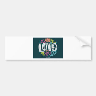 ADESIVO PARA CARRO 0032-ALL-YOU-NEED-IS-LOVE-01