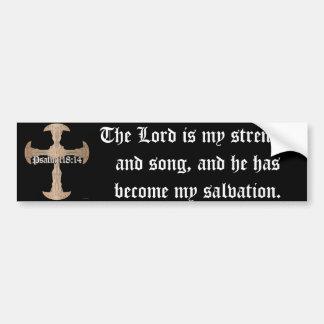 Adesivo Para Carro 118:14 do salmo - cruz de cobre gravada