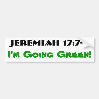 Adesivo Para Carro 17:7 de Jeremiah - verde 8 indo