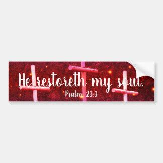 Adesivo Para Carro 23:3 do salmo ele Restoreth meu autocolante no