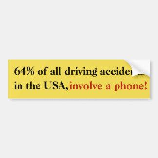 Adesivo Para Carro 64% de todos os acidentes de condução na etiqueta