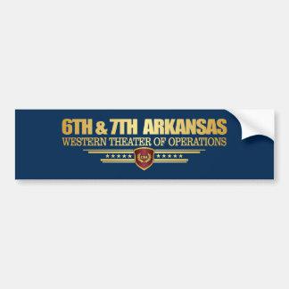 Adesivo Para Carro 6a & 7a infantaria de Arkansas (consolidada)