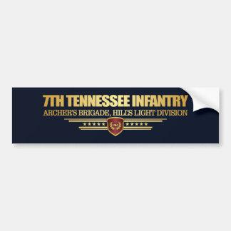 Adesivo Para Carro 7o Infantaria de Tennessee