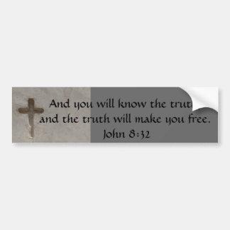 Adesivo Para Carro 8:32 inspirado de John da VERDADE do verso da