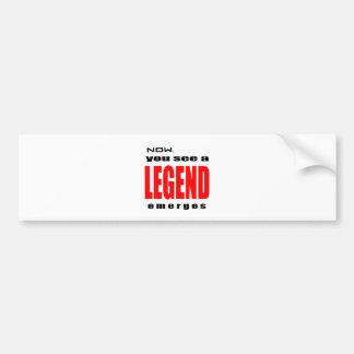 Adesivo Para Carro a admiração legendária da ação da legenda