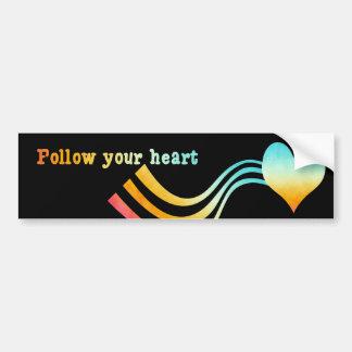 Adesivo Para Carro A aguarela Pastel segue seu coração