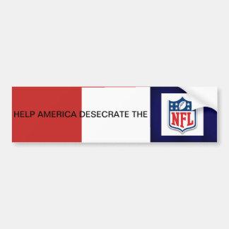 Adesivo Para Carro A ajuda América Desecrate o NFL