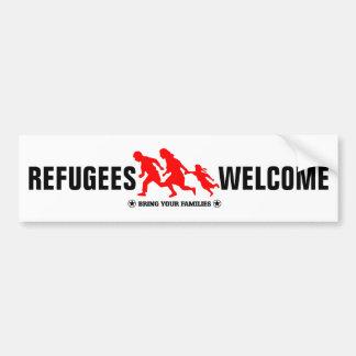 Adesivo Para Carro A boa vinda dos refugiados traz suas famílias