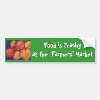 Adesivo Para Carro A comida é Peachy no autocolante no vidro traseiro