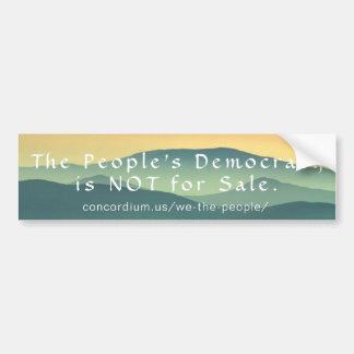Adesivo Para Carro A democracia de pessoa