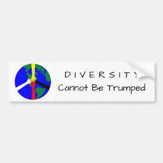 Adesivo Para Carro A diversidade não pode Trumped - autocolante no