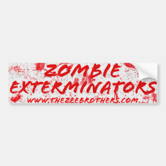 Adesivo Para Carro A etiqueta sangrenta branca dos Exterminators do
