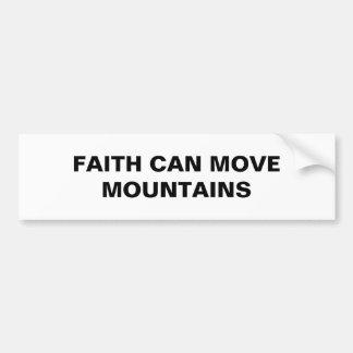 """Adesivo Para Carro A """"fé pode mover autocolante no vidro traseiro das"""