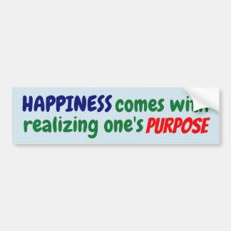 Adesivo Para Carro A felicidade vem com realizar sua finalidade!