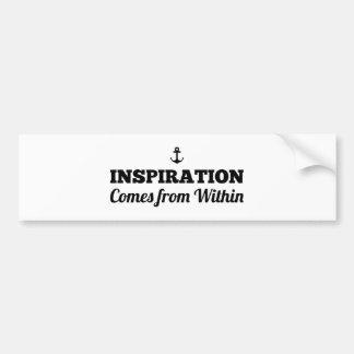 Adesivo Para Carro A inspiração vem de dentro do autocolante no vidro