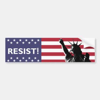 Adesivo Para Carro A liberdade resiste no contexto da bandeira da