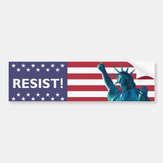 Adesivo Para Carro A liberdade resiste o contexto da bandeira