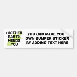 Adesivo Para Carro A Mãe Terra precisa-o t-shirt e presentes