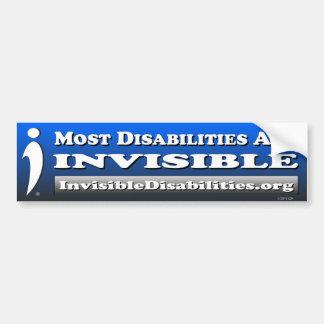 Adesivo Para Carro A maioria de inabilidades são INVISÍVEIS -