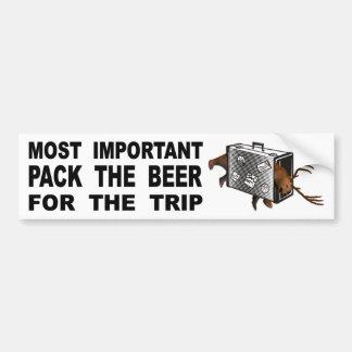 Adesivo Para Carro A mais importante é embalar a cerveja para a