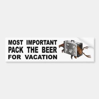 Adesivo Para Carro A mais importante é embalar a cerveja para férias